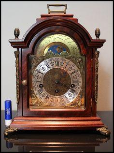 Top Hermle Bracket Westminster Moonphase Clock Mantle Shelf Warmink Junghans | eBay