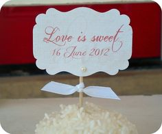 NEW  Personalized Love is Sweet Cupcake by LittlePaperFarmhouse, $16.95