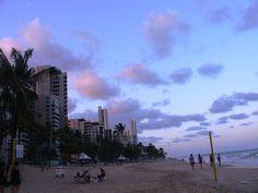 Entardecer na Praia de Boa Viagem, Recife, Brasil. Por Lais Castro.
