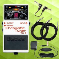 Boss TU-3 Chromatic Guitar & Bass Tuner Pedal Connect & Power Bundle.   Buy it here: http://www.sonicsense.com/boss-tu3-chromatic-tuner-tu-3-stomp-box-w-cables.html