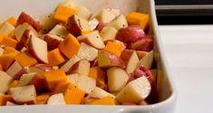 Pečená zelenina s tofu - Receptik.sk Tofu, Sweet Potato, Potatoes, Vegetables, Fit, Shape, Potato, Vegetable Recipes, Veggies