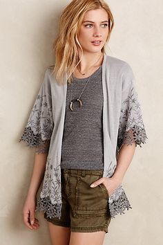Brielle Embroidered Kimono #anthropologie