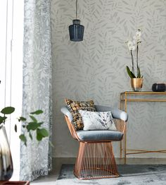 Chaconia Shimmer Wallpaper by Harlequin | Jane Clayton