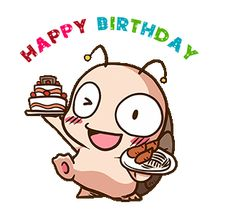 LINE Creators' Stickers - Animated Tumurin Example with GIF Animation Happy Bird Day, Sanrio Characters, Fictional Characters, Birthday Pins, Gif Photo, Line Sticker, Funny Faces, Minnie Mouse, Cute Animals