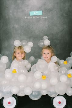 DIY Halloween Costume: Bubble Bath  Read more - http://www.stylemepretty.com/living/2013/10/22/diy-halloween-costume-bubble-bath/