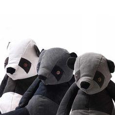 NEW denim panda bears / Maison Indigo http://knuffelsalacarteblog.blogspot.nl/2014/10/new-denim-pandas.html