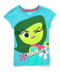 Look at this #zulilyfind! Green Inside Out Disgust 'Meh' Tee - Girls #zulilyfinds