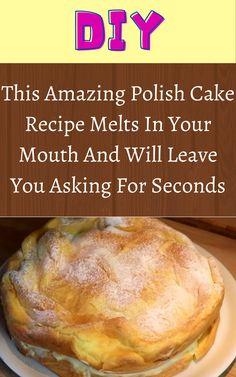 Polish Cake Recipe, Polish Recipes, Polish Desserts, Cake Recipes, Dessert Recipes, Looks Yummy, Cupcake Cakes, Cupcakes, International Recipes