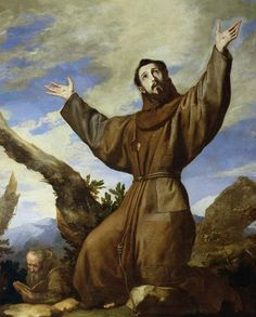 Jusepe de Ribera  The Ecstasy of Saint Francis (1642)  Royal Seat of San Lorenzo de El Escorial, Spain