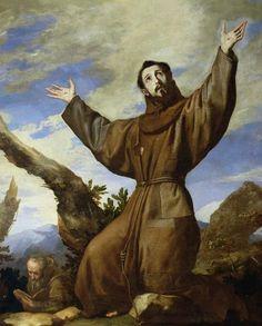 Jusepe de Ribera  The Ecstasy of Saint Francis (1642)  Royal Seat of San Lorenzo de El Escorial, Spain
