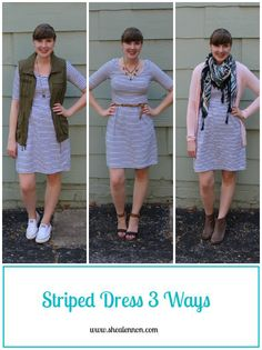 Shea Lennon: 3 Ways to Wear a Striped Dress: Summer to Fall Transition