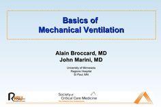 basic-mechanical-ventilation by Andrew Ferguson via Slideshare