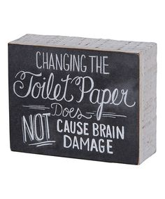 Another great find on #zulily! 'Toilet Paper' Chalk Sign by Primitives by Kathy #zulilyfinds