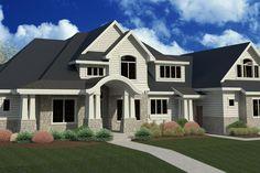 Craftsman Style House Plan - 6 Beds 5.5 Baths 6680 Sq/Ft Plan #920-24 Exterior - Front Elevation - Houseplans.com