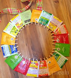 Looking for something the kids can make for mom or grandmother this year? How about this adorable tea wreath? #emealslovesmom #contest
