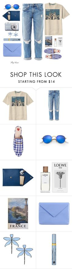 """""""Denim !"""" by anne-977 ❤ liked on Polyvore featuring Retrò, rag & bone, Casio, Gucci, Ray-Ban, STOW, Loewe, Acne Studios, Tory Burch and Estée Lauder"""