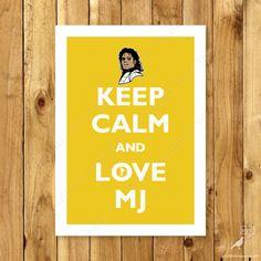 Michael Jackson garder calme Poster, poster musique roi de la Pop Jackson five, Thriller Moonwalk / / BUY 3 GET 1 FREE / /