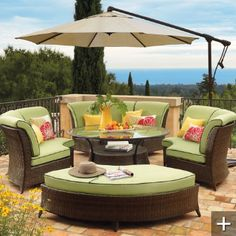 Would love this on my deck this summer-from Grandin Road