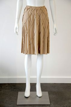 Scanlan & Theodore  Women s Gathered Skirt With Diamond Detail {Size 8}