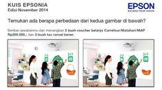 Ikuti kuis Epsonia dan menangkan 3 voucher Carrefour/Matahari/MAP @ Rp200 ribu dan 3 tas ransel keren.