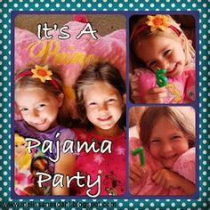 Pajama Party theme with games & favors