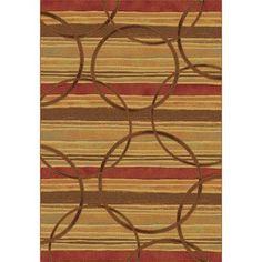 """Dynamic Rugs Eclipse Firetown Spice Area Rug Rug Size: 3'11"""" x 5'7"""""""