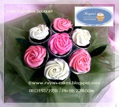 Simple Roses Butter Cream Cupcakes by Rayan Cakes