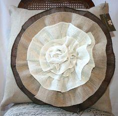 Love these burlap pillows!!