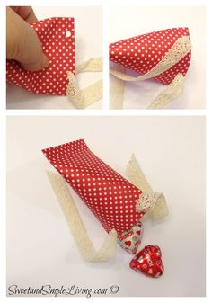 Valentine Crafts Sour cream container made out of paper and filled with candy!  Neat idea!
