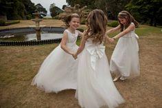 The flower girls dancing