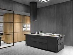 Fitted kitchen with island MINÀ PROFESSIONAL by Minacciolo design Arch. Silvio Stefani, R&D Minacciolo