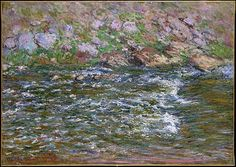 Claude Monet (French, 1840–1926). Rapids on the Petite Creuse at Fresselines, 1889. The Metropolitan Museum of Art, New York. Bequest of Miss Adelaide Milton de Groot (1876–1967), 1967 (67.187.88) #spring