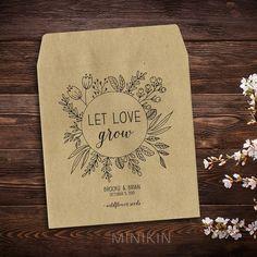 25 x Personalized Wedding Seed Packets Wedding by MinikinGifts