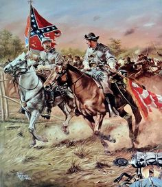 Image cavalry of north virginia by rick reeves Confederate States Of America, Confederate Flag, American Revolutionary War, American Civil War, Civil War Art, Native American Pictures, Civil War Photos, Military Art, Wildlife Art
