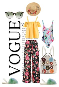 """""""Summer time"""" by viviane-shopen ❤ liked on Polyvore featuring del Rio London, Dolce&Gabbana, Mara Hoffman, Fendi and Victoria Beckham"""
