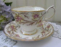 Vintage Royal Albert Heather Bell Teacup and Saucer