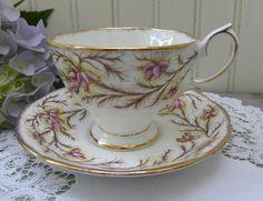 Vintage Royal Albert Heather Bell Teacup and Saucer