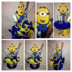 party centerpiece minions inspired  this are hand made and will take me from 5-10 days to ship, if you need it sooner please contact me before