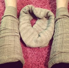 I cut an old sweater into leg warmers..Then I made the rest into an infinity scarf! Perfect for winter as boot toppers!