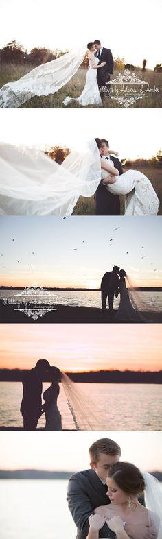 Royal Oak Wedding Photography - Weddings by Adrienne and Amber #afterglow #photography #weddingphotography #sunset #goldenhour #veil #kiss #beach #openfield #newday #bride