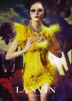 now that is a yellow dress! lanvin.