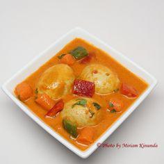 Curried egg stew - Mchuzi wa mayai