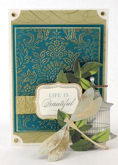 © Anna Griffin, Inc. Elegant Arrangements Embossing Folder Bundle