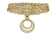 """Liz Taylor's Diamond and Gold """"Barquerolles"""" Jewelry by Van Cleef & Arpels. (Another gift from hubby Richard Burton) Not sure why she called it """"grandmother's necklace""""?"""