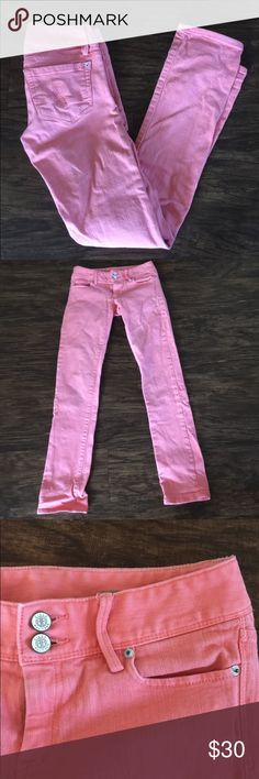 SALE TODAY! Lilly Pulitzer Straight Worth Jeans Lilly Pulitzer straight worth jeans in coral. In great condition, worn a handful of times. Size zero, price negotiable! Lilly Pulitzer Jeans Straight Leg