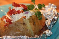 Bakad Potatis med Baconröra –
