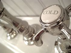 Bathroom Faucets That Say Hot And Cold vintage white porcelain bathroom faucets handles 1920- 1930