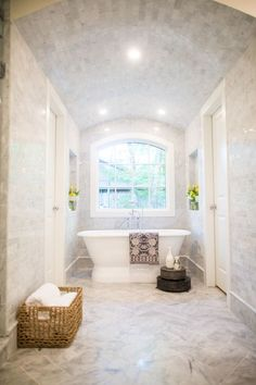 Gorgeous free standing tub: http://www.stylemepretty.com/living/2015/12/16/our-favorite-hgtv-fixer-upper-interior-design-moments/: