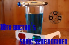 2 NEW COCKTAILS!!!!  10th doctor: 1 oz - Blue curaco 1 oz - Blueberry Vodka .5 oz - Captain morgan Fill Sprite 11th Doctor: 1 oz - Blue Cura...