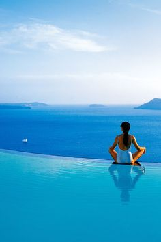 Perivolas Hotel Santorini. Gorgeous location and amazing Mediterranean food...yes please!